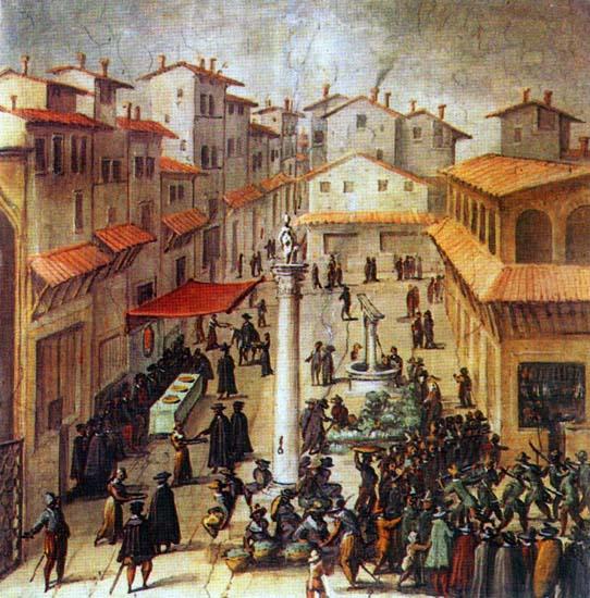 Costituzione Granducale -Mercato vecchio di Firenze-